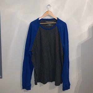 Aeropostale Blue & Gray long sleeve shirt size XXL